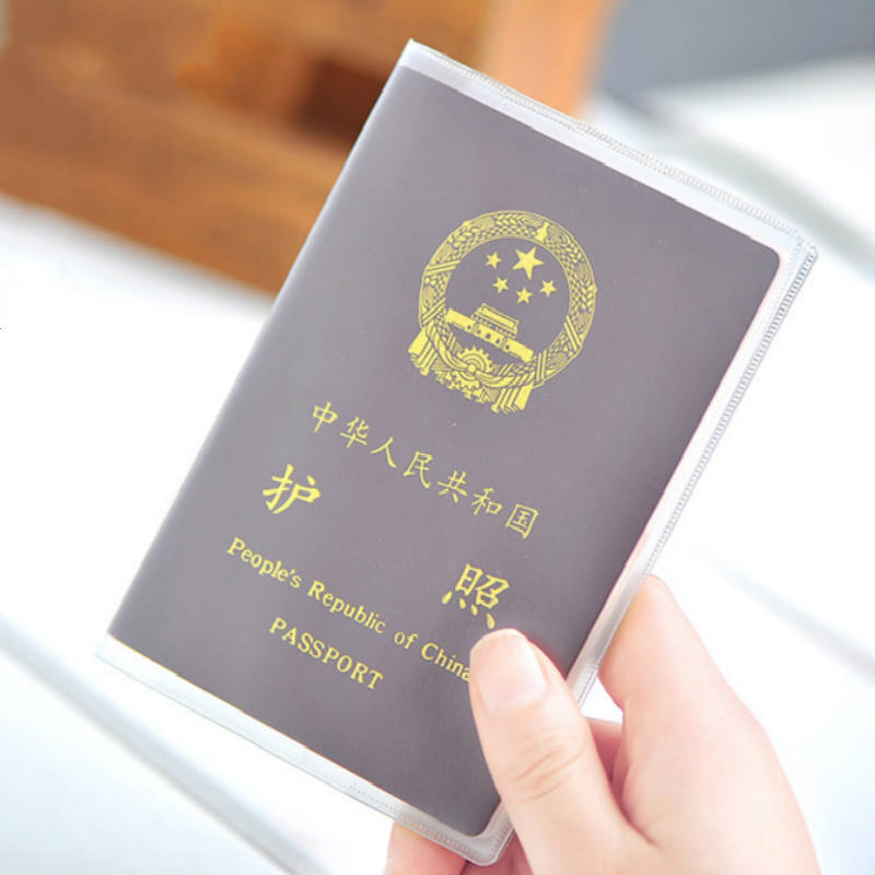 Waterproof PVC Travel Passport Cover Transparent Clear Card ID Holder Case
