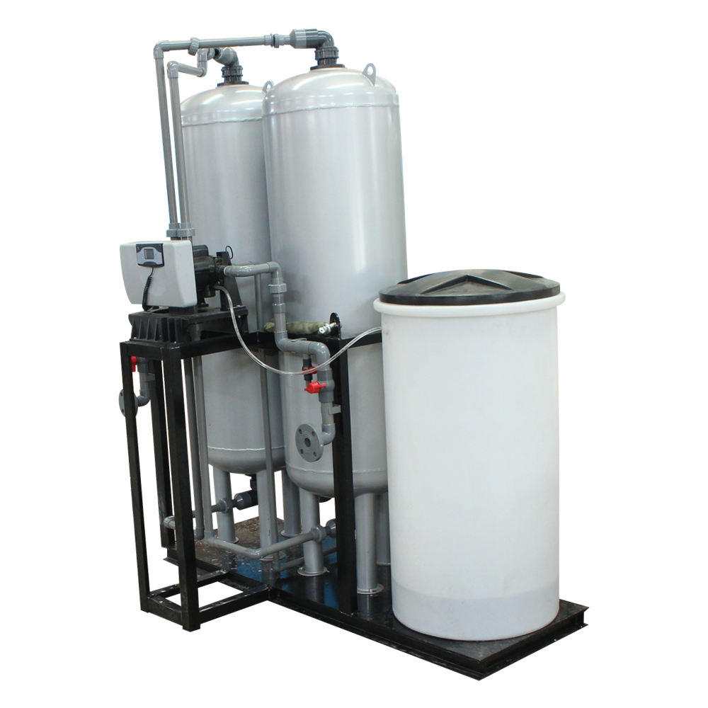High efficient Twin tank alternative working 5m3/hr Water Softener System for boiler water treatment