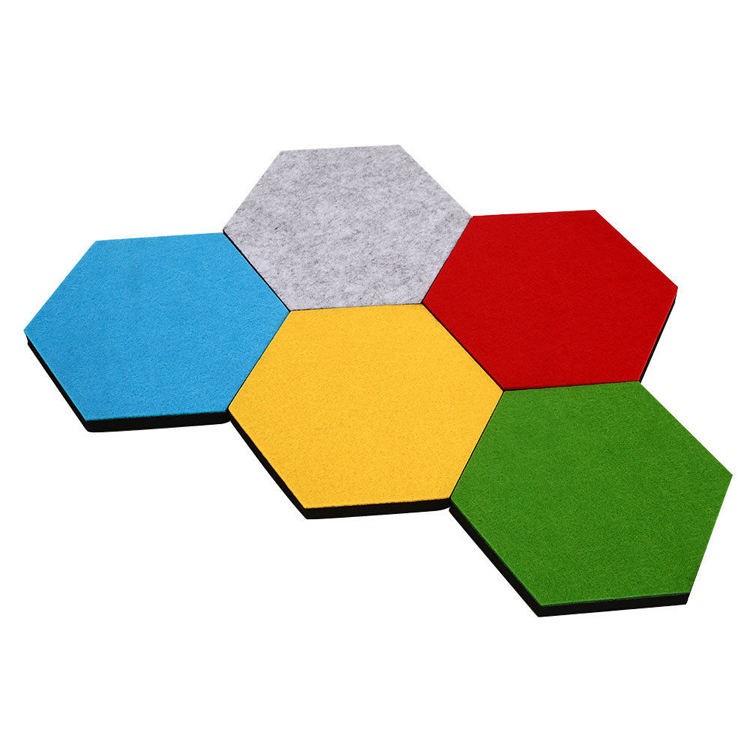 Home Sandwich Felt Board Hexagon Tiles type Felt Memo Board