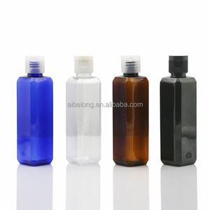 IBELONG 100ml amber blue clear white square PET plastic bottle with flip cap