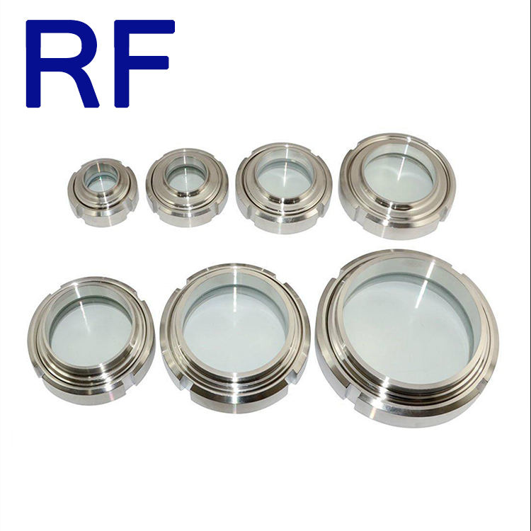 RF DIN/3A/ SMS stainless steel round welded /union Sight Glass