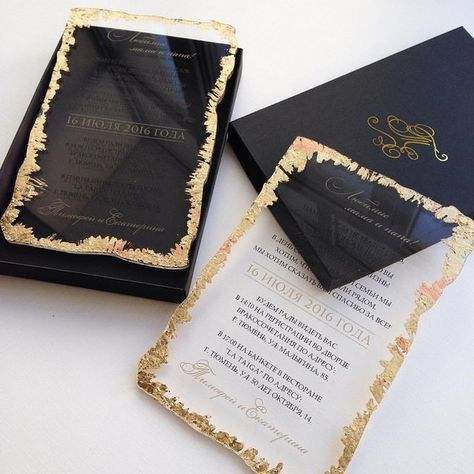 Unique Transparent Acrylic Wedding Invitation Card