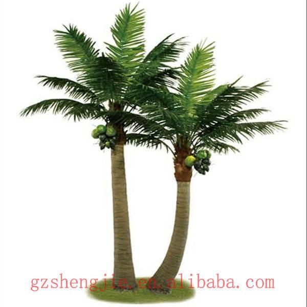 装飾的なモデル照明付きクライマーココナッツの木