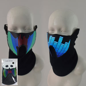 Glow Mask Glow Masks Sound Activated Glow Rave Party EL Panel Mask