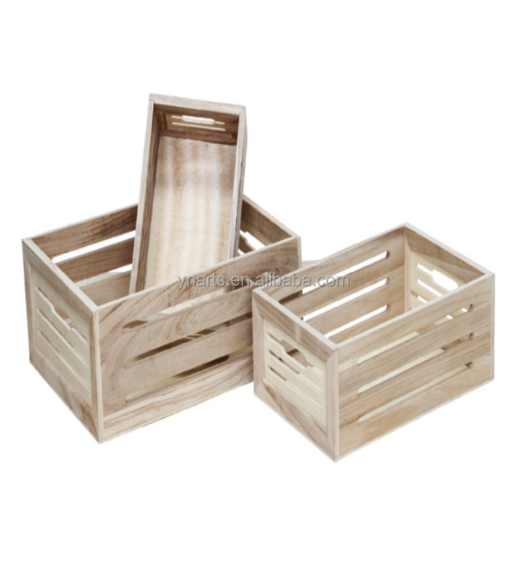 2021 Wholesale Antique vintage Recycled Wood Vegetables Fruit Crates Wood Box