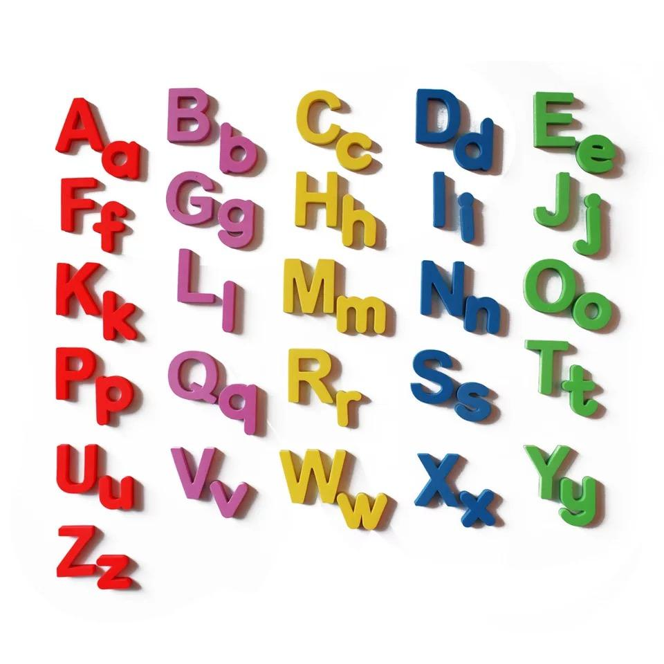 Magnetic Letters Uppercase Lowercase Foam Fridge Alphabet Magnets for Kids Preschool Spelling and Learning Toy Game