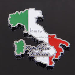 Metal Souvenir Fridge Sticker Fridge Magnet Sticker Italy Tourist Souvenir Badge
