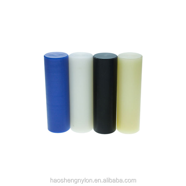 customized Engineering plastic MC Cast Nylon threaded White PA6 Rods