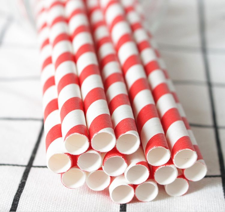 biodegradable straws wholesale red and white stripes acrylic paper straws