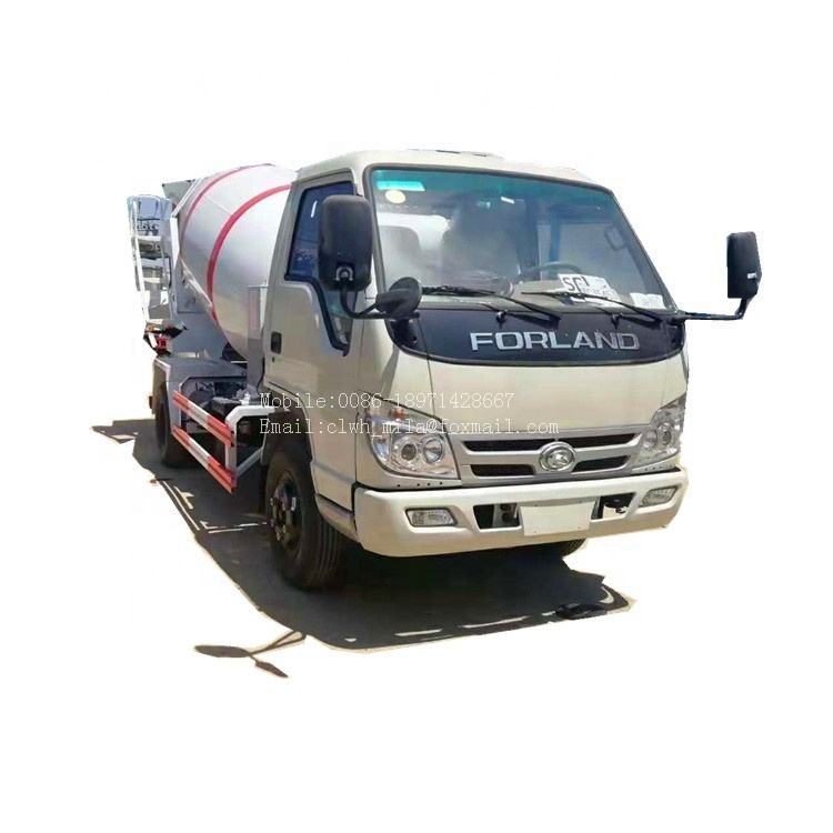 Left hand drive 2- 3 cubic meters small concrete concrete mixer mixing truck