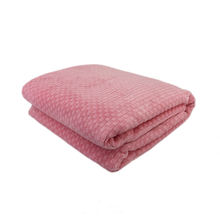 Checkered pattern plush fuzzy woven sofa throw blanket for Home Bed Couch