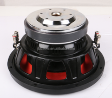 best and low power sub woofer for car 50 Oz motor dual 4 ohm 300w rms competition subwoofer