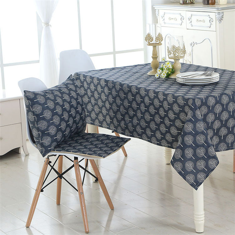 Embroidered Flower Design Table Cloth,Like Linen Table Cloth,Table Cloth For BedRoom Decor New 2019