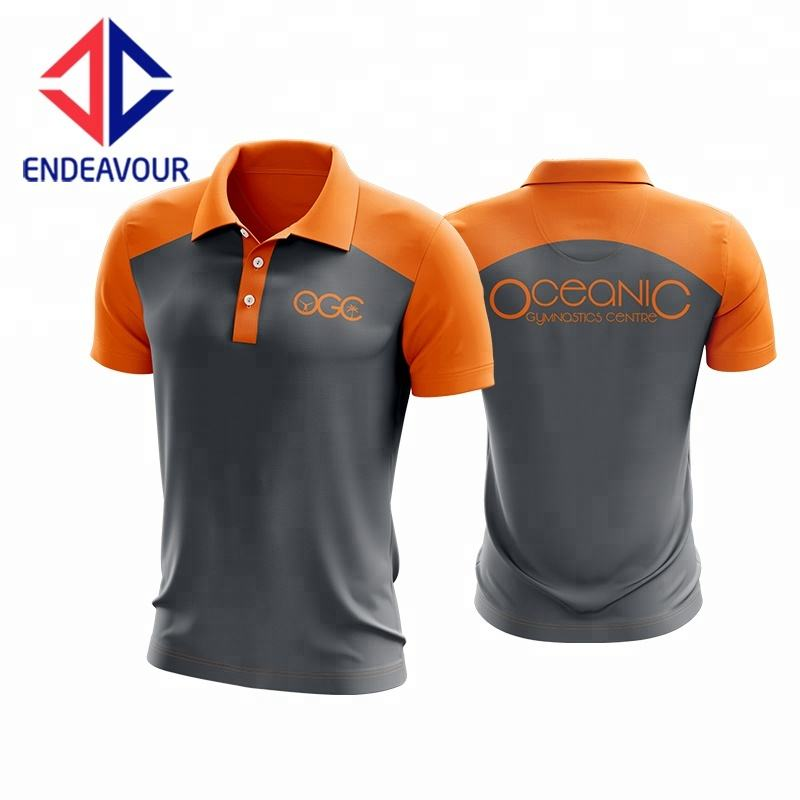 Nice Color Picture Designed Two Tone Polo Shirt
