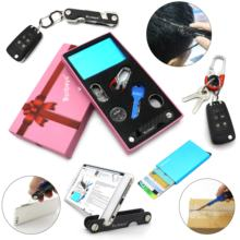 promotion Customized Branded Available credit card holder key organizer Business Gift Set luxury