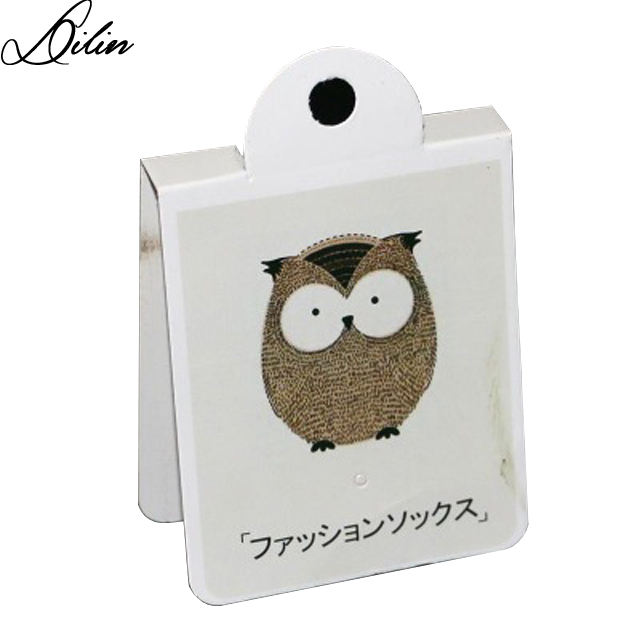 Male and female universal cotton Japanese socks card trademark hangtag