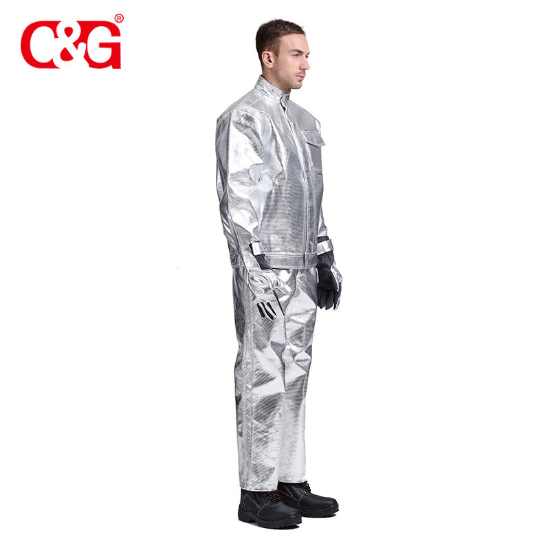 Concise design aluminized fire jacket and pants
