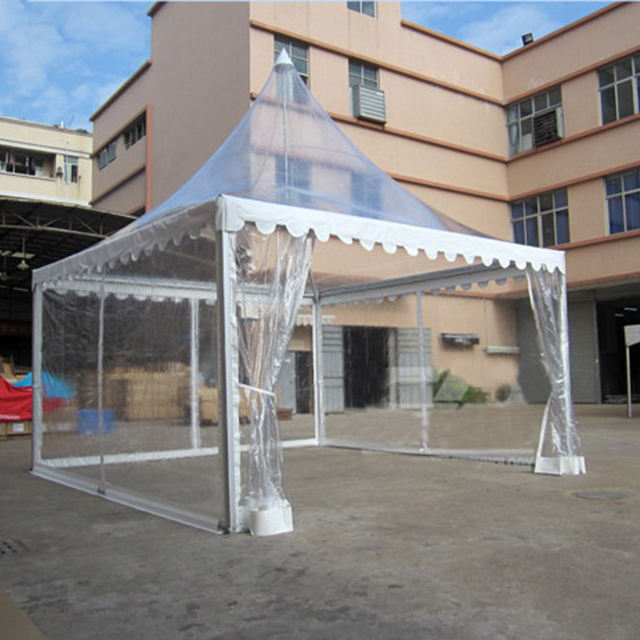 wind proof pagoda gazebo clear roof wedding tent supplier
