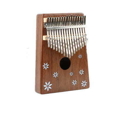 Wood thumb kalimba 17 note finger piano beginners portable instrument