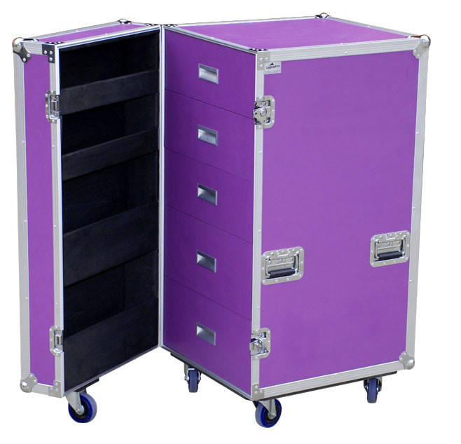 Aluminum Tool Trolley Case With Wheels Or Rolls