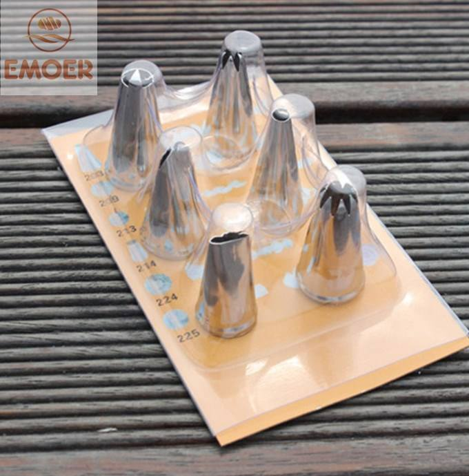 304 stainless steel Cake Cupcake Decorating Supplies Icing Frosting Nozzles 6 pcs piping tips set