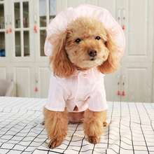Anxiu 2019 new pets dog  hoodie in polyster two legs sunflower hat gingham check