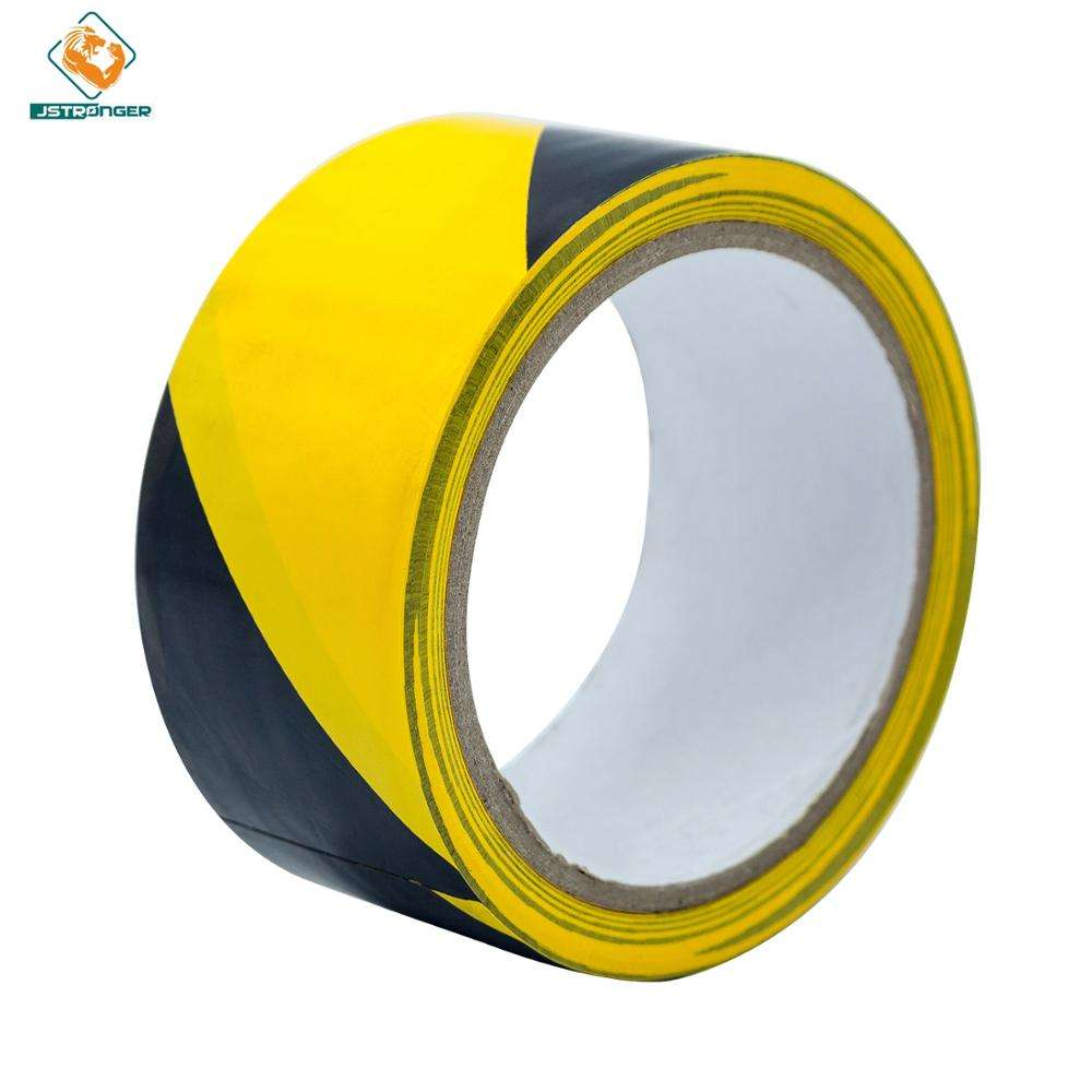 High quality black yellow plastic floor warning tape/caution tape/underground warning tape