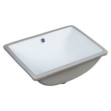 Bathroom rectangle under the ceramics basin with CUPC