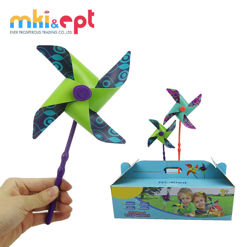 Best price plastic mini windmill toy set for wholesale