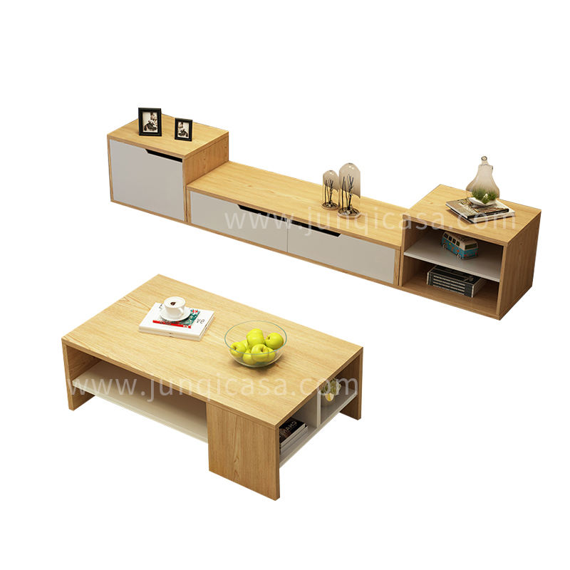 Home Furniture TV Cabinet Stand and End Table or Tea Table