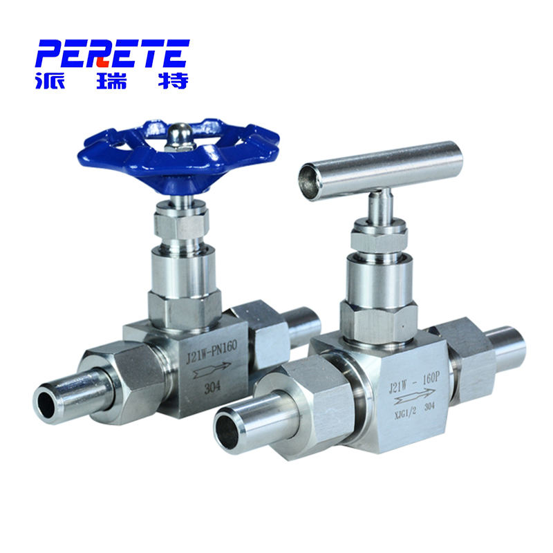 High Pressure Control Hydraulic SS316 SS304 2 Way Needle Valve