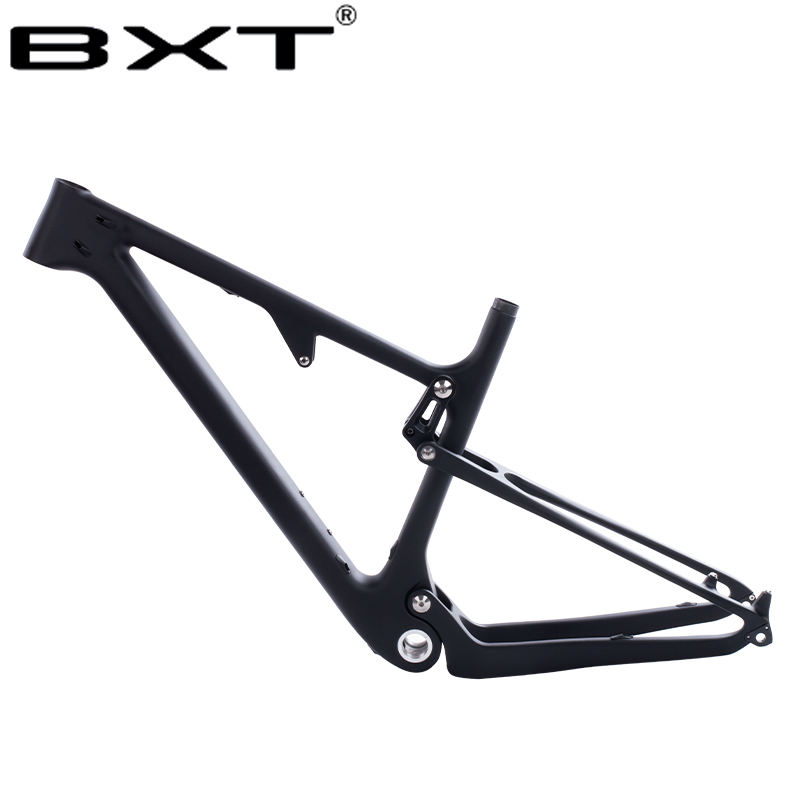 29er Full Suspension Carbon 148mm/142mm Mountain Bike Frame in Shock 165*38mm travel 100mm Max Tire size 2.3 29er BSA MTB Frame
