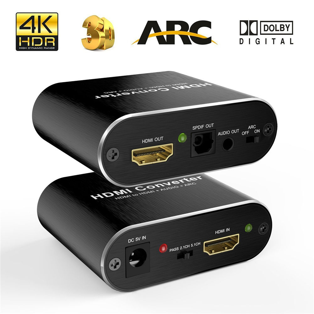 4 K 60Hz HDMI Audio Extractor 5.1 ARC HDMI Audio Extractor Splitter HDMI Để Audio Extractor Quang SPDIF TOSLINK + 3.5 mét Stereo
