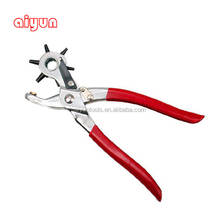 "6 Sized Heavy Duty Leather Hole Punch Hand Pliers Belt Holes Punches 8"" punch plier Duty punching plier"
