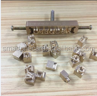 Brass mold for hot stamping foil machine, Flexible Mold Leather Press customized mold for leather