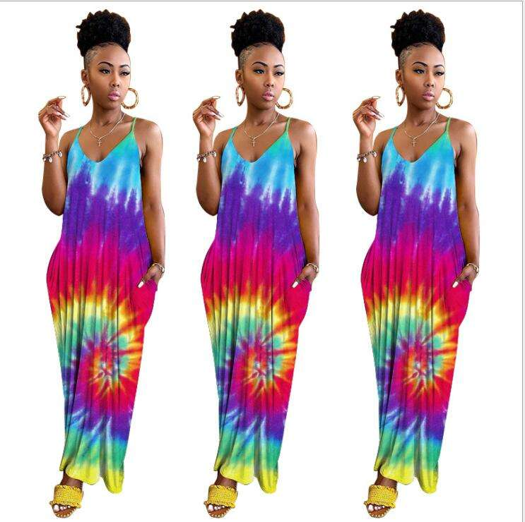 Coldker Womens Floral Maxi Dress Party Evening Summer Beach Sundress Plus Size