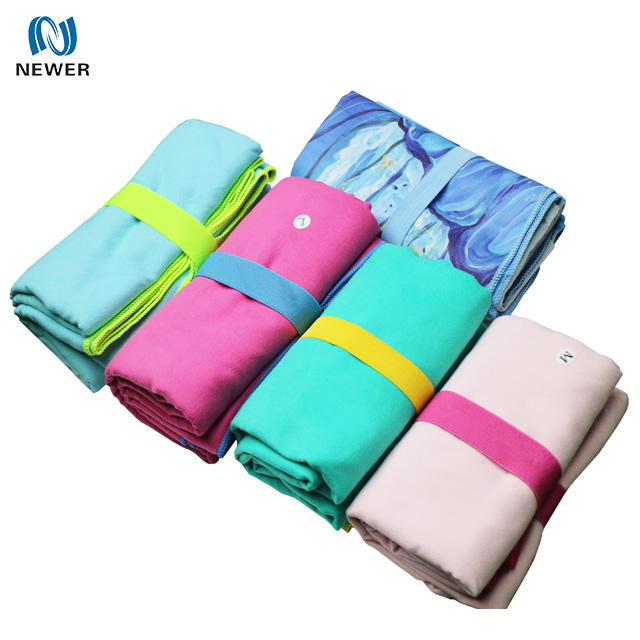 China oem nonslip outdoor travel gym sport beach custom printed bamboo large small 80 polyester 20 polyamide microfiber towel
