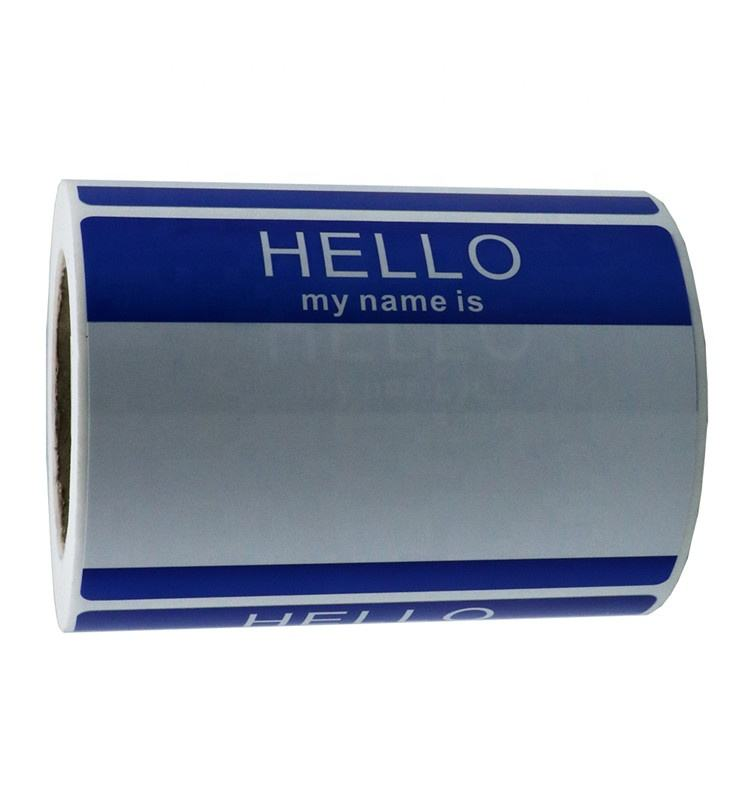 Hybsk Hello My Name Is BLUE Name Tag Identification Stickers 3-1/2 inch x 2-3/8 inch Total 200 Labels Per Roll
