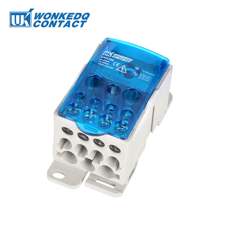 UKK 250A Brass 도전 체 힘 분포 Screw Terminal Blocks
