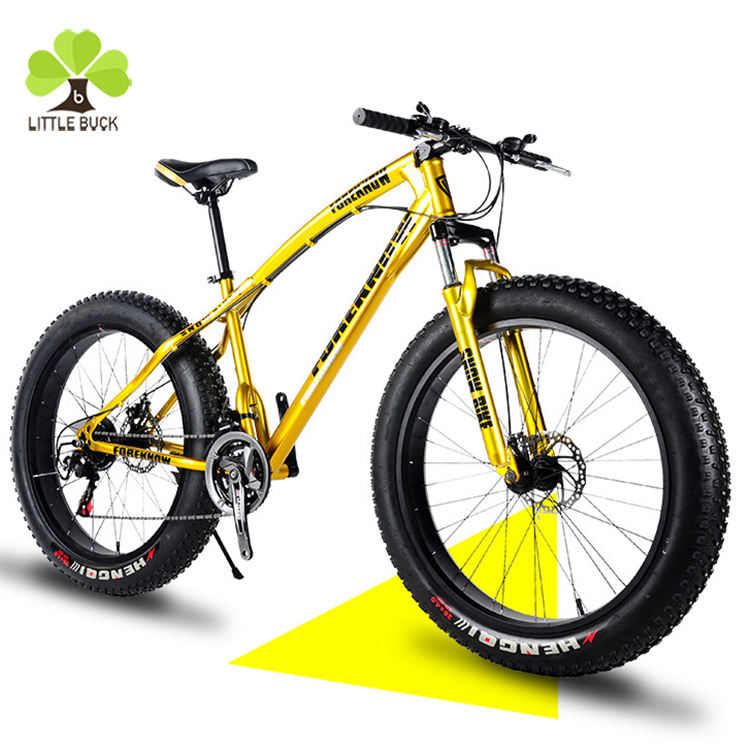 Best Exporter 26x4.9inch tire fat mountain bike 21 speed downhill fat bicycle , snow bike with high quality from China