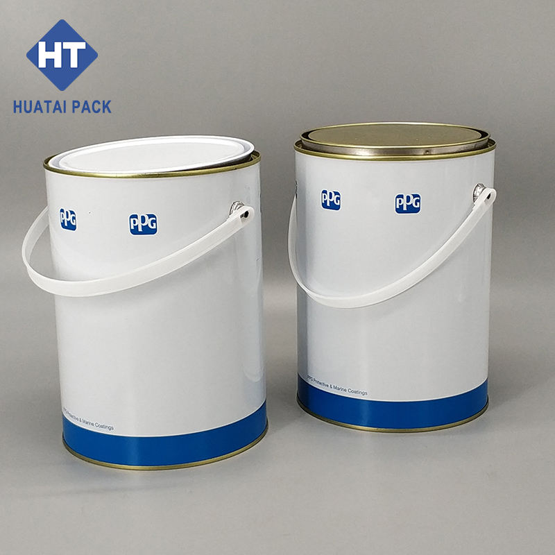 Empty Cans For Paints 1 US Gal Round Metal Tin Can For Paint Empty Paint Tin Can With Lid