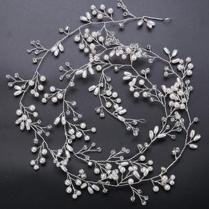 Fashion Pear Silver Color bridal hair accessories Handmade Crystal Hair Jewelry Wedding Accessories Headband Women Headpiece