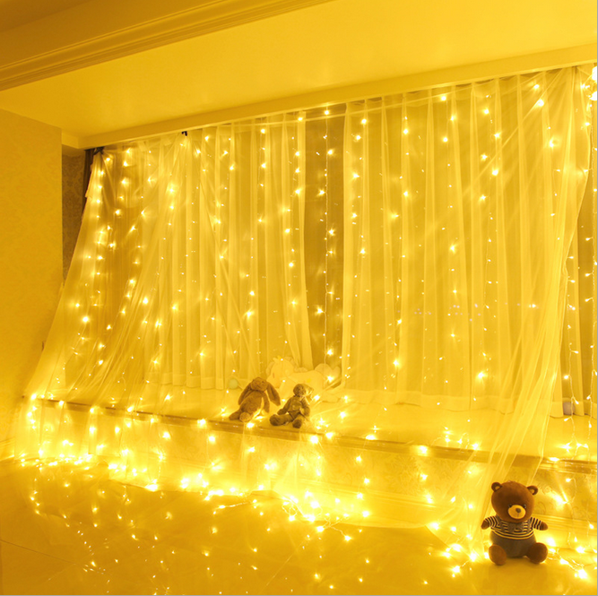 LED Gordijn String Licht, LED Ijspegel Licht String, warm Wit Fairy Light String voor Indoor Outdoor Wanddecoratie