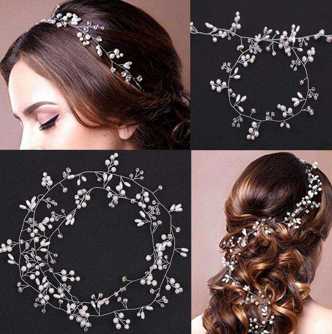 2018 New Wedding Fascia Corone a Testa Fiore Partito Wedding Accessori Per Capelli Per Le Donne Bridal Crown Sposa Tiara Romantico