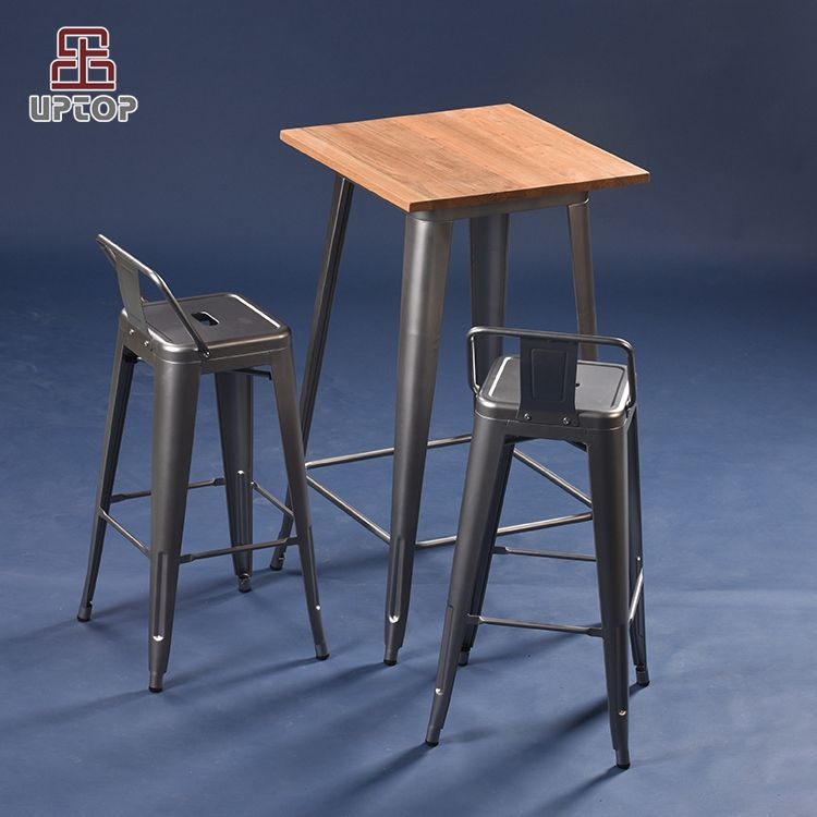 (SP-BT701) Industrial bar table and chairs metal bar furniture set