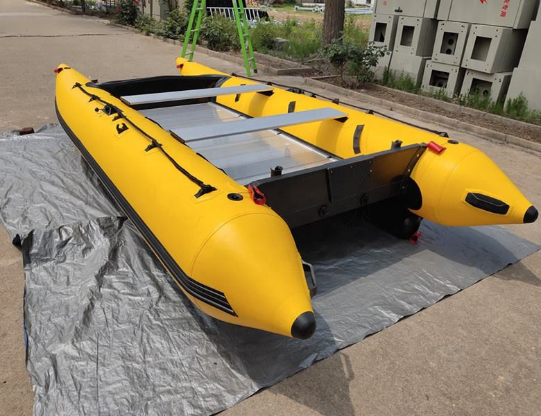 14 feet life raft rescue boat PVC or hypalon air boats sail fishing boat high speed catamaran