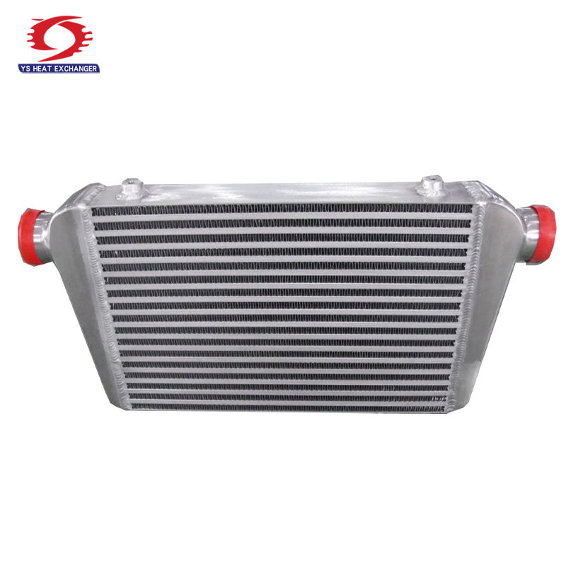 universal aluminum polished auto turbo intercooler