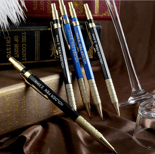 European and Japan Market Popular Custom Metal Automatic Pencil, Classic 2.0 HB Mechanical Pencil Metal