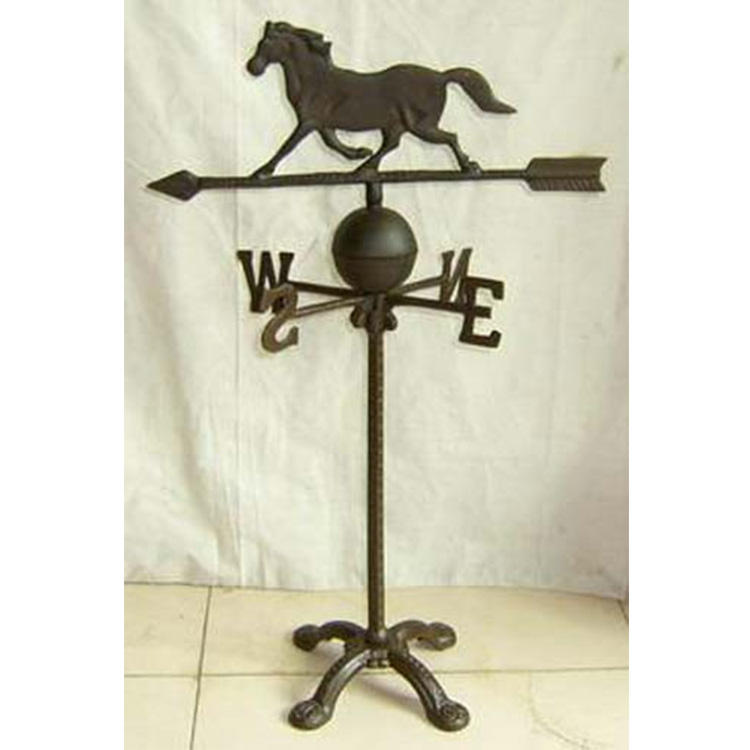 Cast iron decorative weather vane horse wind vane garden weathervane wind vane