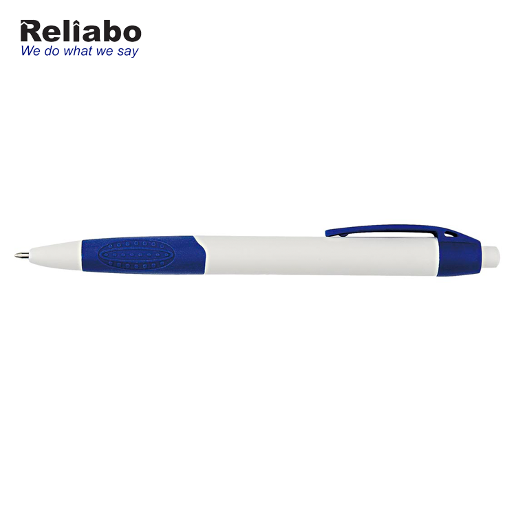 Reliabo Wholesale Writing Stationery Customized Plastic Blue Ink Ball Pen With Logo